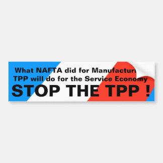 TPP - ANTI-TPPのバンパーステッカー#2 --をストップ バンパーステッカー
