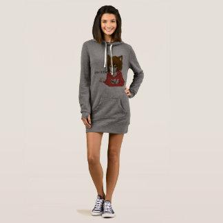 Traaタンのフード付きスウェットシャツの服 ドレス