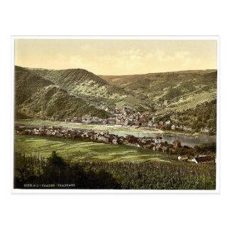 Traben Trarbach、モゼルの谷の、まれなドイツ ポストカード