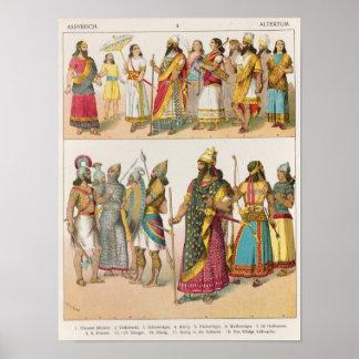 「Trachten der Voelker」のからのアッシリアの服、1864年 ポスター