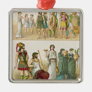「Trachten der Voelker」のからのギリシャの服、1864年 メタルオーナメント