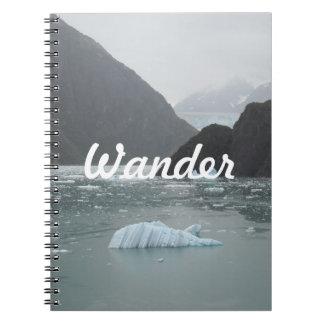 Tracyの腕のフィヨルドのノートの氷 ノートブック