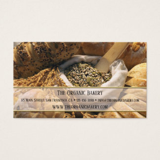 Traditional Bread Bakery Business Card 名刺