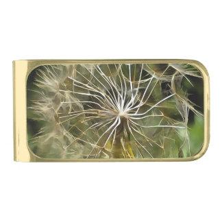 Tragopogonの花のSalsify ゴールド マネークリップ