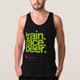TRAIN.RACE.BEER. オウムのタンクトップ タンクトップ