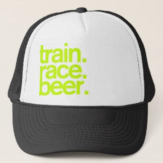 TRAIN.RACE.BEER. トラック運転手の帽子 キャップ