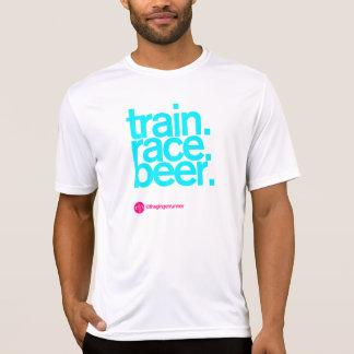 TRAIN.RACE.BEER. 合われた連続したTシャツ Tシャツ
