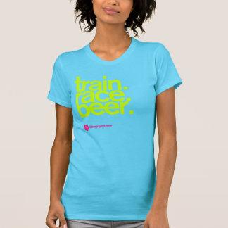 TRAIN.RACE.BEER. 女性のTシャツ Tシャツ