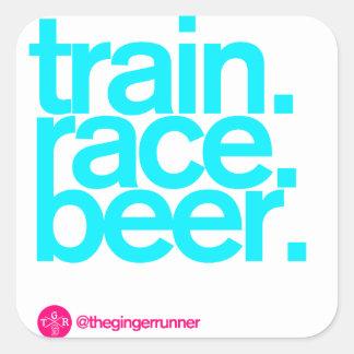 "TRAIN.RACE.BEER. 3""ステッカー スクエアシール"