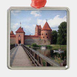 Trakaiの島の城-リスアニア --- メタルオーナメント