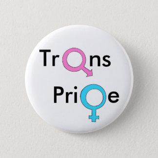 TrangenderかTransexualのプライド 5.7cm 丸型バッジ
