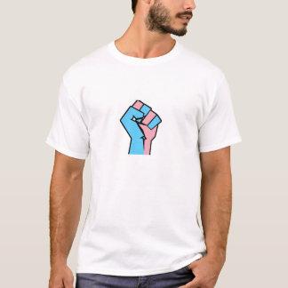 TRANSのプライドの握りこぶしのワイシャツ Tシャツ