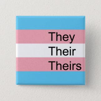 TRANSの代名詞ボタン: それら、それらの彼等の物 缶バッジ