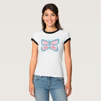 TRANSの旗の蝶 Tシャツ