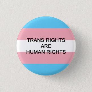 TRANSの権利は人権のバッジです 3.2CM 丸型バッジ