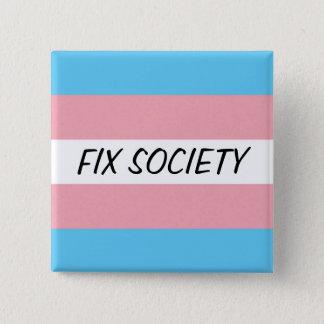TRANSボタン: 苦境の社会 缶バッジ