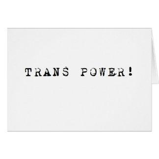 TRANS力! 空白のなカード カード