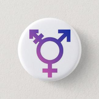 Trans*のプライドボタン 3.2cm 丸型バッジ
