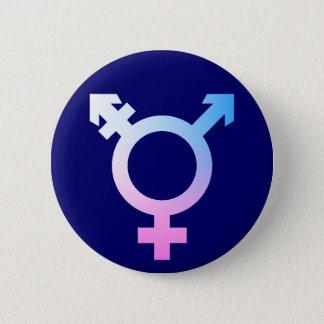 Trans*の記号のピンクか青または白 5.7cm 丸型バッジ