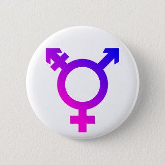 Trans*の記号のピンクか青 5.7cm 丸型バッジ