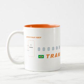 transbrasil航空会社 ツートーンマグカップ