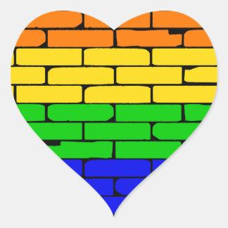 Transexualの虹の壁 ハートシール