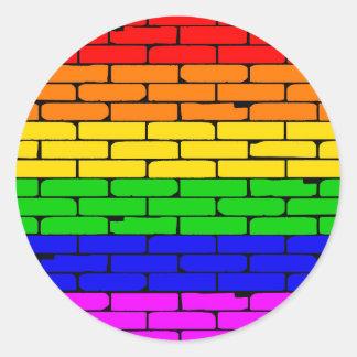 Transexualの虹の壁 ラウンドシール