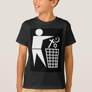 Trash_Religion_w-on-b_no-site Tシャツ