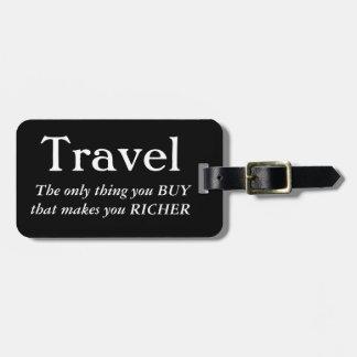 Travel Makes You Richer ラゲッジタグ