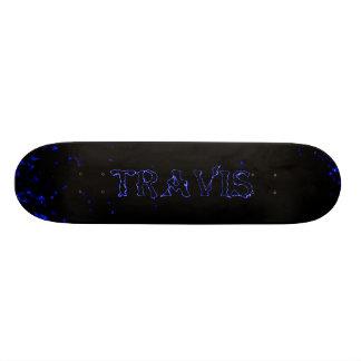 travisの稲妻のカスタムなスケートボードのデザイン スケートボード