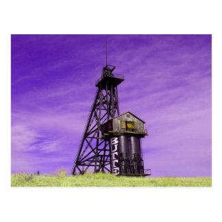 Travonaのヘッドフレーム-ビュートモンタナ ポストカード