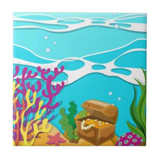 treassureの箱との海の下の場面 タイル