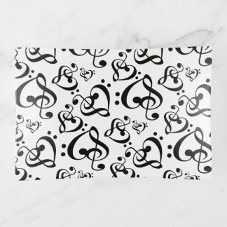 Treble Clef Bass Clef Hearts Music Notes Pattern トリンケットトレー