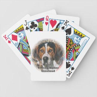 Treeingの歩行者のCoonhoundの演劇カード バイスクルトランプ
