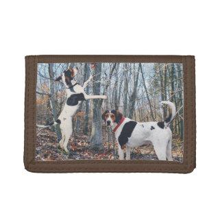 Treeingの歩行者のCoonhoundの財布