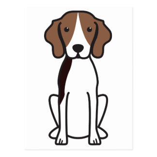 Treeingの歩行者のCoonhound犬の漫画 ポストカード
