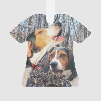 Treeingの歩行者のCoonhound オーナメント