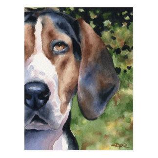 Treeingの歩行者のCoonhound ポストカード