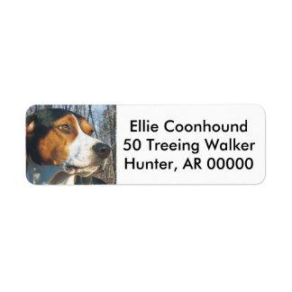 Treeingの歩行者のCoonhound ラベル