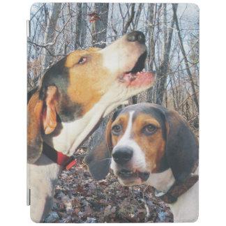 Treeingの歩行者のCoonhounds iPadスマートカバー