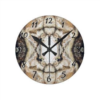 Treemoのギアすべての自然な木製の穀物の柱時計 ラウンド壁時計