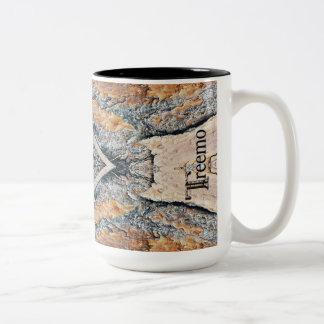 Treemoのギアのダイヤモンド及び錆の迷彩柄パターンマグ ツートーンマグカップ