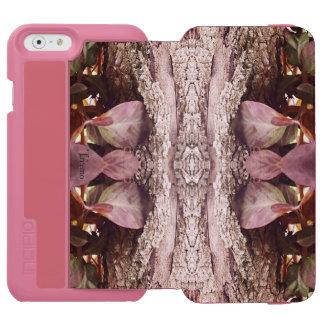 Treemoのギアのピンクのフリルの自然の芸術のウォレットケース iPhone 6/6sウォレットケース