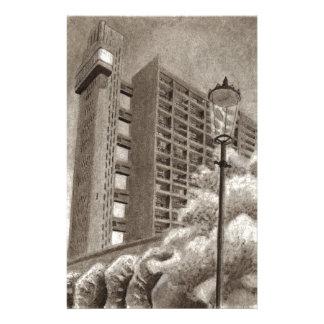 Trellickタワーの元のスケッチ 便箋