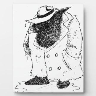 trenchcoatの大きい人 フォトプラーク