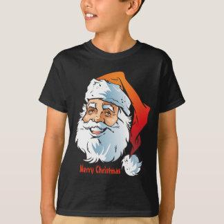 Trendy Smiling Santa Merry Christmas Tシャツ