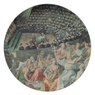 Trent 1588-89年の議会(フレスコ画) プレート