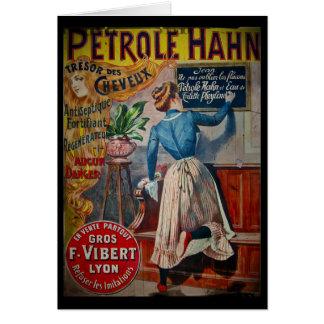 Tresor des Cheveuxのヴィンテージの防腐剤の広告 カード