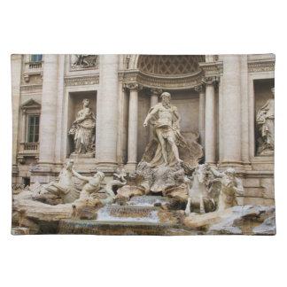 Treviの噴水ローマ、イタリア ランチョンマット