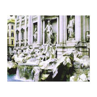 Treviの噴水ローマ キャンバスプリント